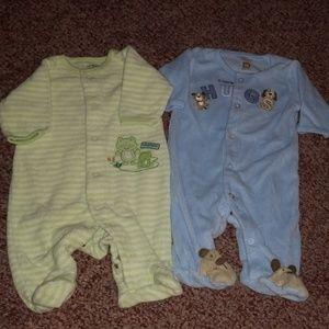 Terry cloth newborn pajamas